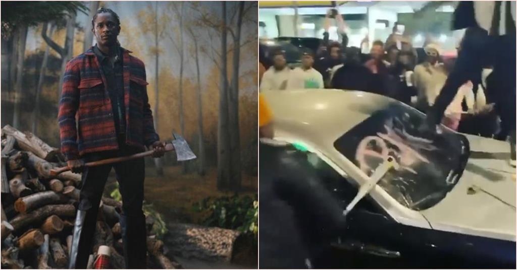 饒舌歌手開趴拿球棒狂砸「幽靈車王」 2千萬豪車瞬間被砸爛!