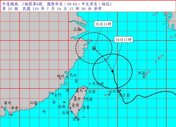 快新聞/颱風海警解除!烟花轉向朝中國前進 中南部下週嚴防大雨