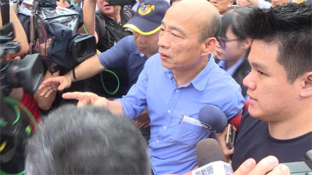 「救人哦!」韓國瑜視察排水 遇君鴻失業員工陳情