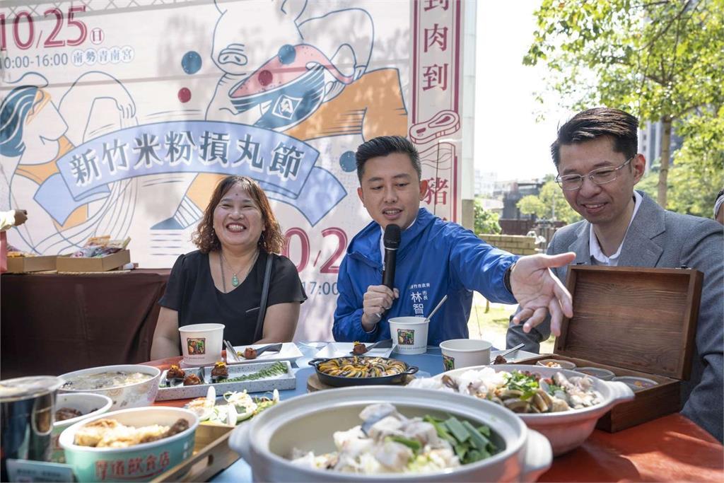 2020米粉摃丸節擴大辦理 肉乾、肉鬆都來了 林智堅市長開箱台灣豬寶盒