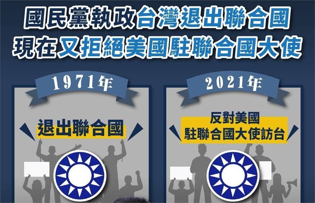 快新聞/費鴻泰反美聯合國大使訪台 民進黨嗆:國民黨不演了開始全面反美?