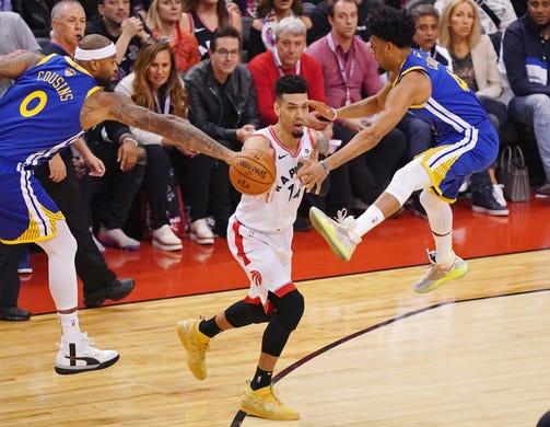 NBA/暴龍25年來首場總冠軍賽 第一戰9分之差勝勇士