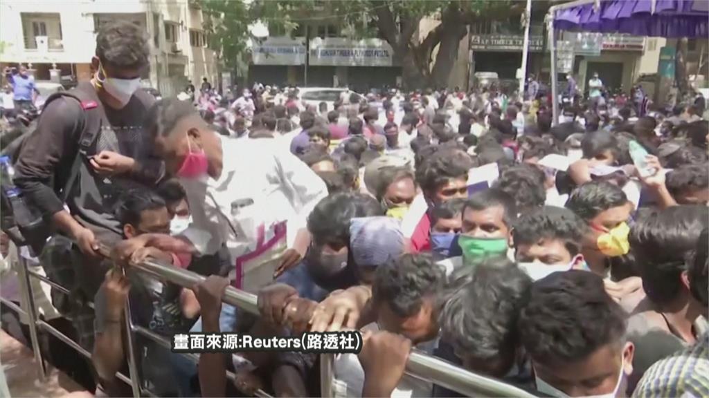 沒藥物求生機!印度清奈數百群眾圍體育館 盼獲「瑞德西韋」救命