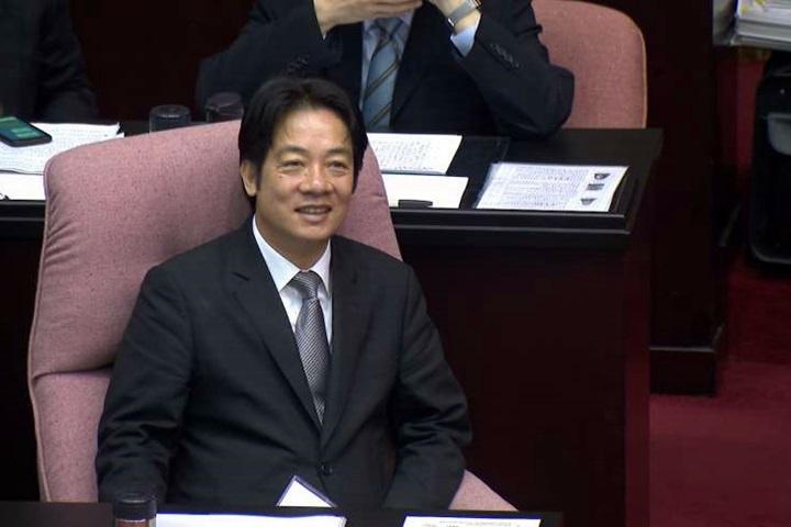 綠委拋外交部併陸委會 賴清德:中國只想併吞台灣