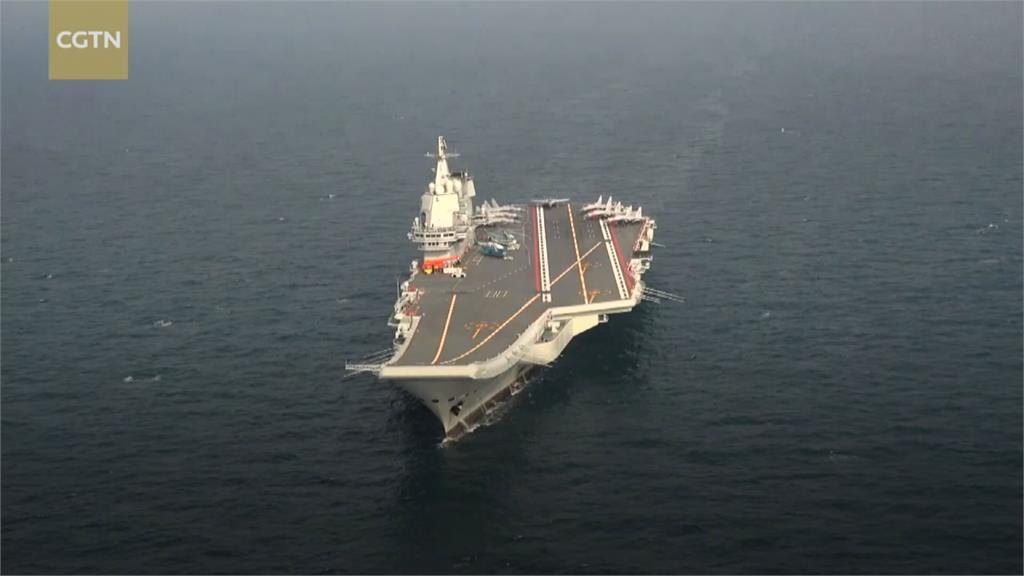 對壘? 中航艦南海軍演 美神盾艦再穿台海
