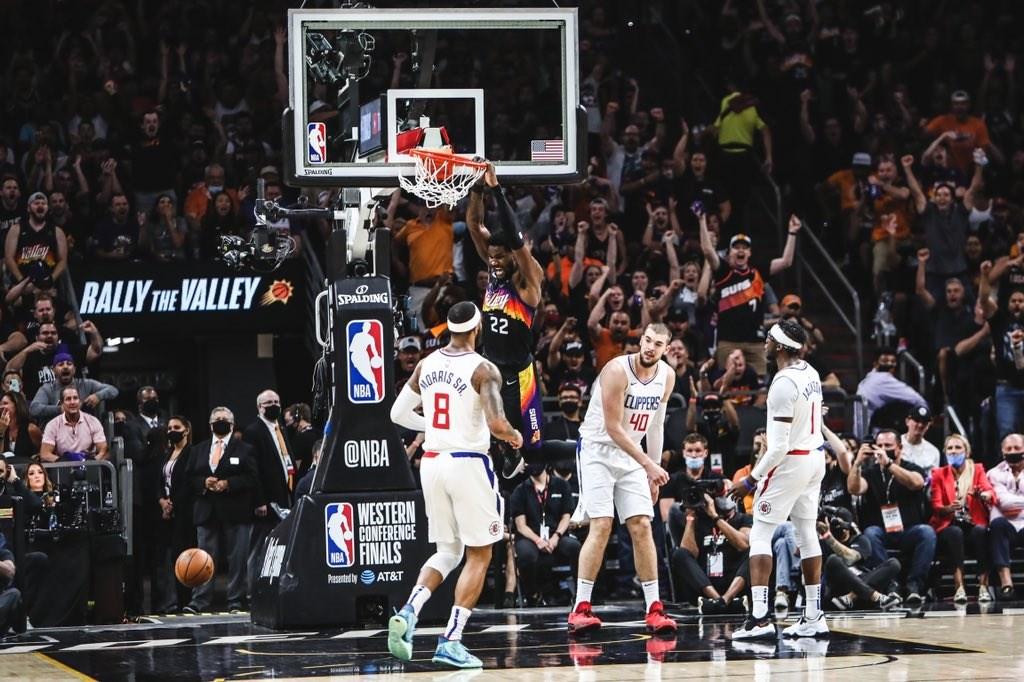 NBA/艾頓致命一球灌倒快艇 太陽西區冠軍賽2連勝