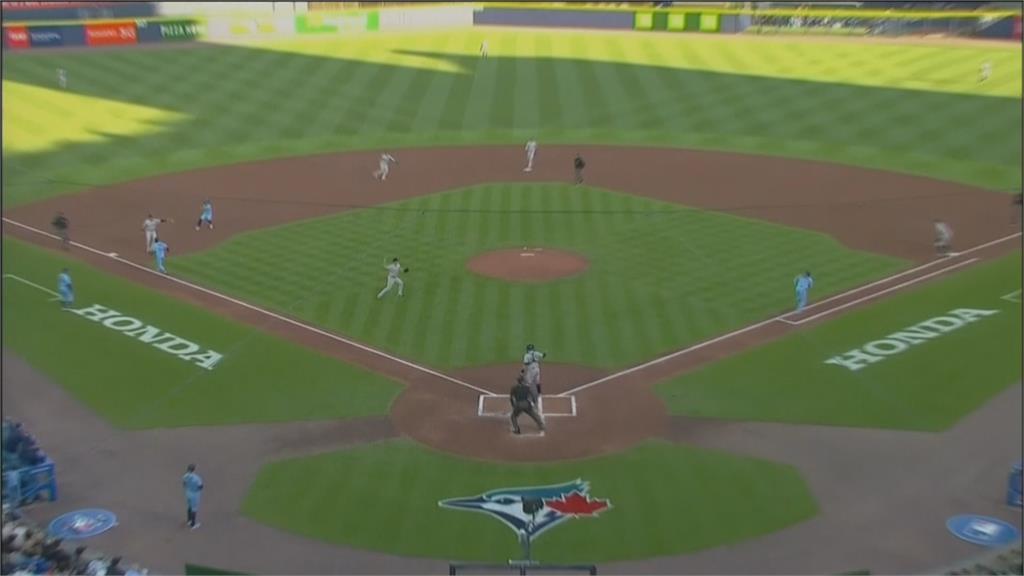 MLB/今年第二次!洋基超完美守備「三殺藍鳥」