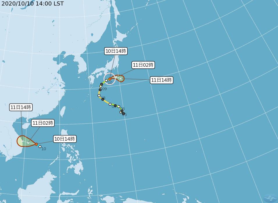 快新聞/南沙島海面熱帶性低氣壓 氣象局:恐發展成輕颱