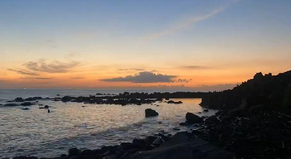 快新聞/【獨家】基隆和平島追日曙光乍現 民眾親眼見證直呼「很感動」