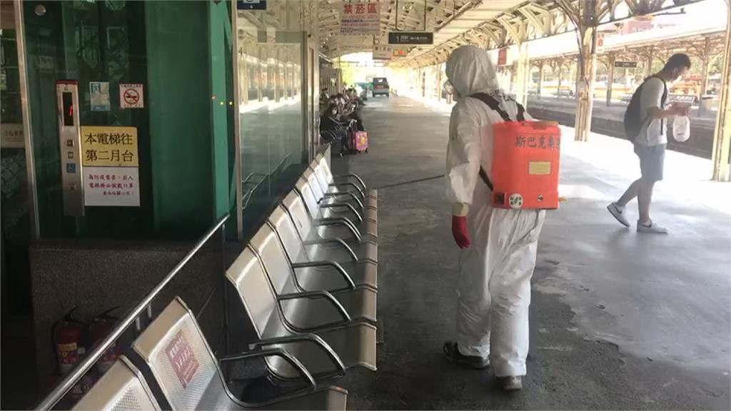 確診者搭自強號從板橋→台南!台鐵急消毒