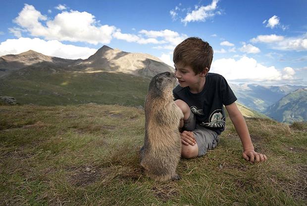 4歲小男孩與土撥鼠一見鍾情,約好年年都上山拜訪好朋友...「持續9年的友情」讓人超暖心!|寵物愛很大