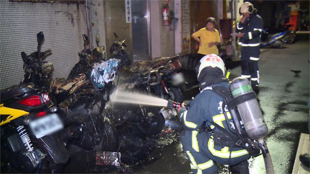 快新聞/抓到了! 北市大安區凌晨6機車遭燒成廢鐵 台大研究生坦承酒後縱火