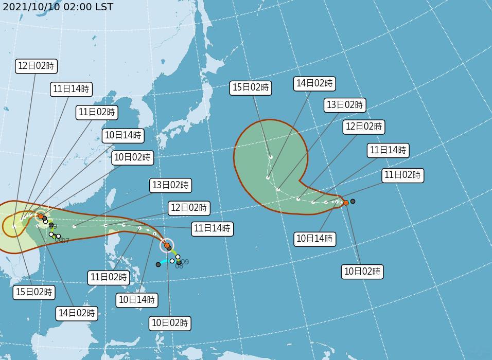 快新聞/輕颱「圓規」最快今晚間發海警 鄭明典:和典型的颱風結構概念不同