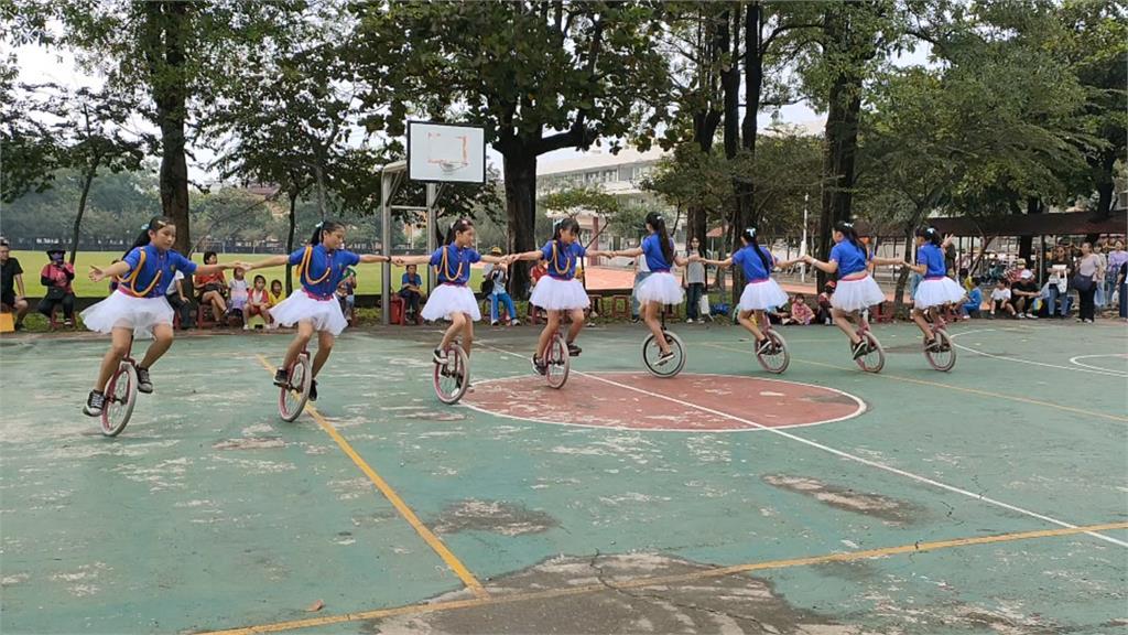 潮州國小獨輪車錦標賽登場!幼稚園學生也參賽