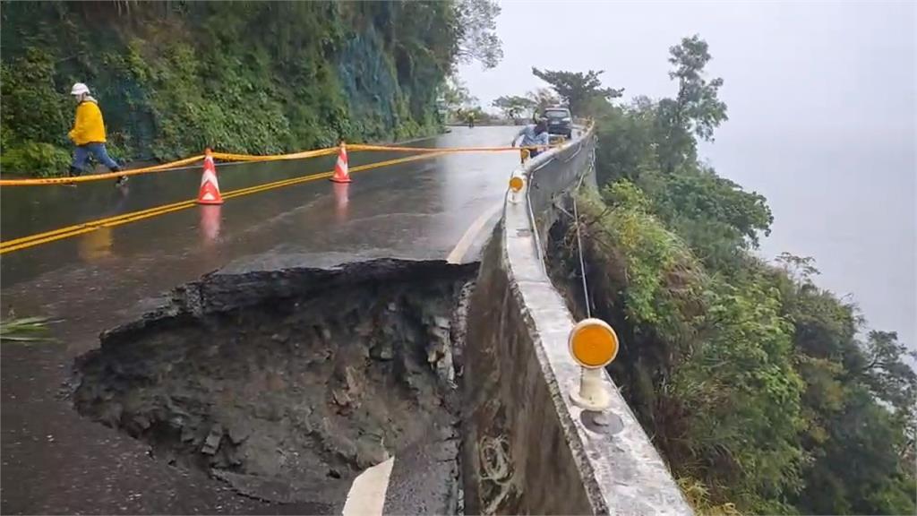 宜蘭連日大雨釀災!   蘇花公路多處土石坍塌、路基掏空