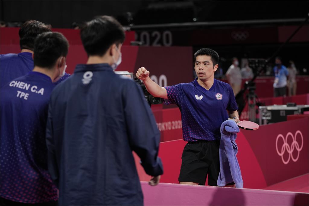東奧/台灣桌球男團8強遺憾落敗 蘇貞昌鼓勵:奮戰不懈的台灣精神將傳承下去
