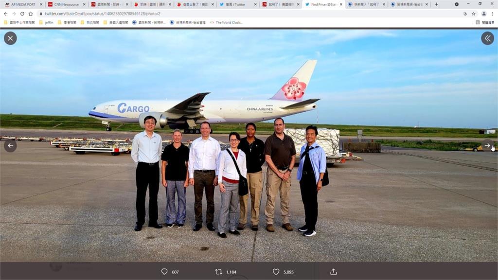 PO蕭美琴送機照 美國務院強調台美衛生夥伴關係