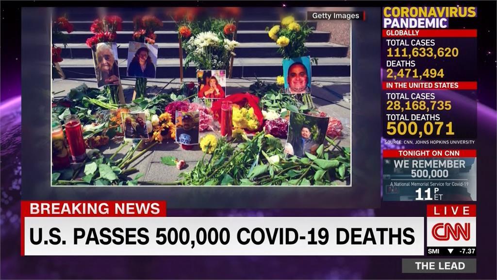 武肺在美奪50萬人命 聯邦政府降半旗5天