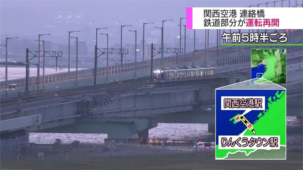 關西機場聯絡橋鐵道 比預定早三天通車