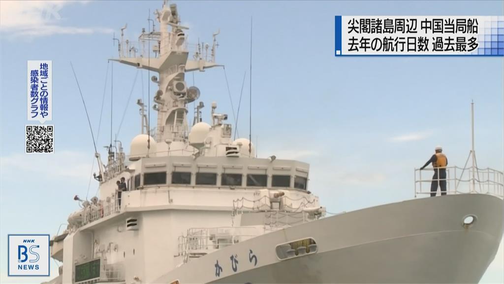 4艘中國海警船駛近釣魚台列嶼 日船警戒