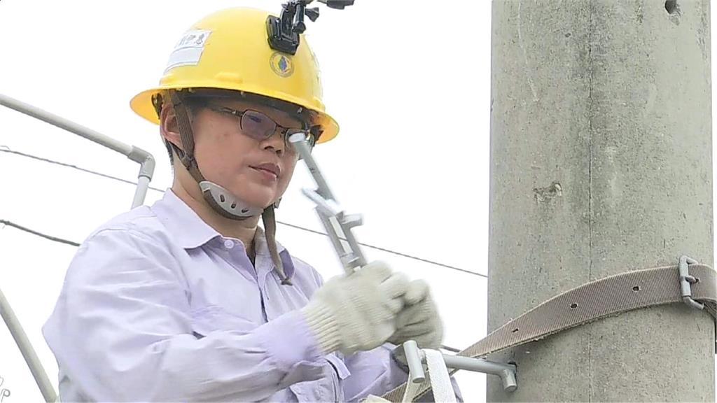 屏東台電招募16名新員工 唯一女性攀高沒再怕