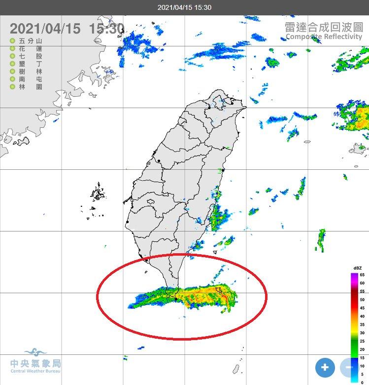 快新聞/台灣南部出現大片雷達回波 鄭明典:不會下雨