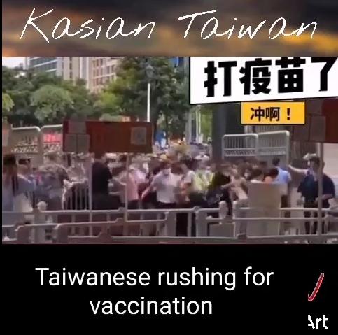 快新聞/網傳台灣人搶打疫苗影片 警方證實假訊息:在中國拍攝