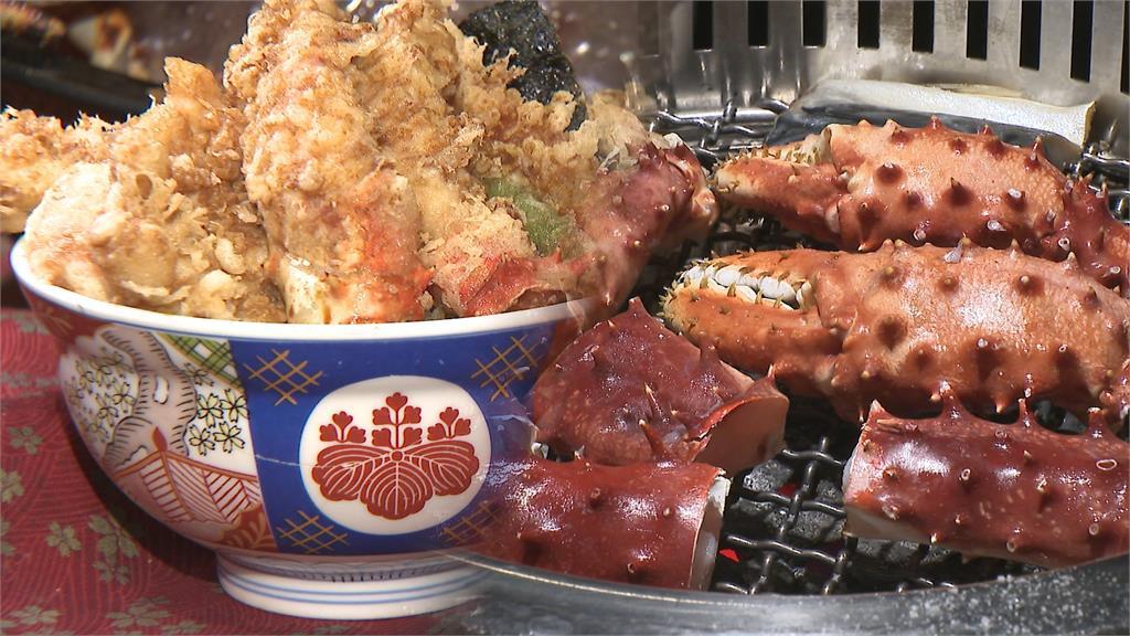 秋蟹季報到 金子半之助推極上天丼 超奢華帝王蟹及30公分穴子魚一次到位 帝一燒烤帝王蟹吃到飽