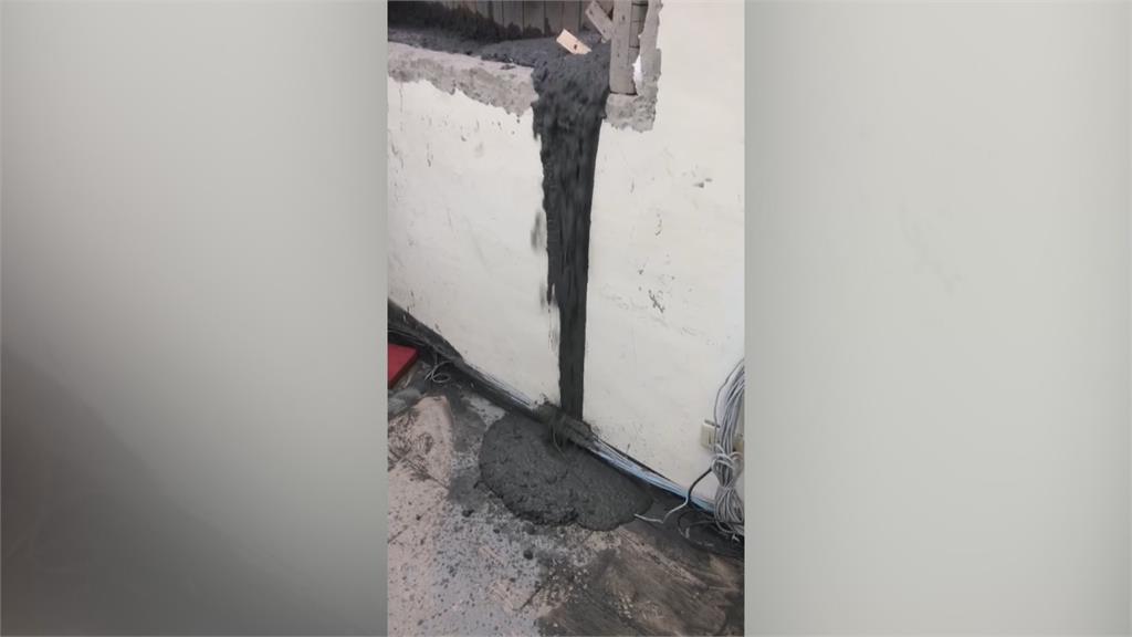 灌漿工程失誤釀「爆漿」 警局慘成「土石流」受災戶