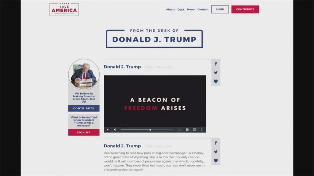 不等臉書恢復帳號!「來自川普的辦公桌」平台上線