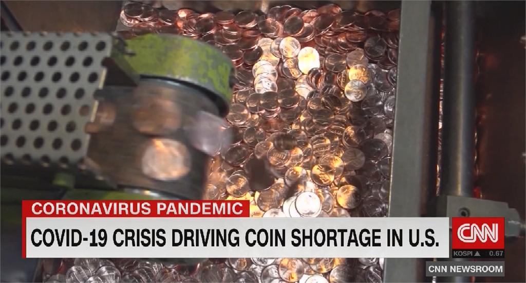 新冠病毒肆虐美國 「疫」外造成硬幣短缺