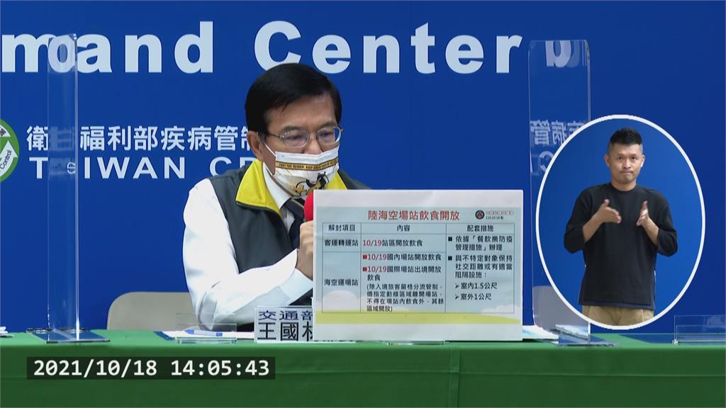 快新聞/客運轉運站、機場、港口明起開放飲食!國際線入境區仍禁止