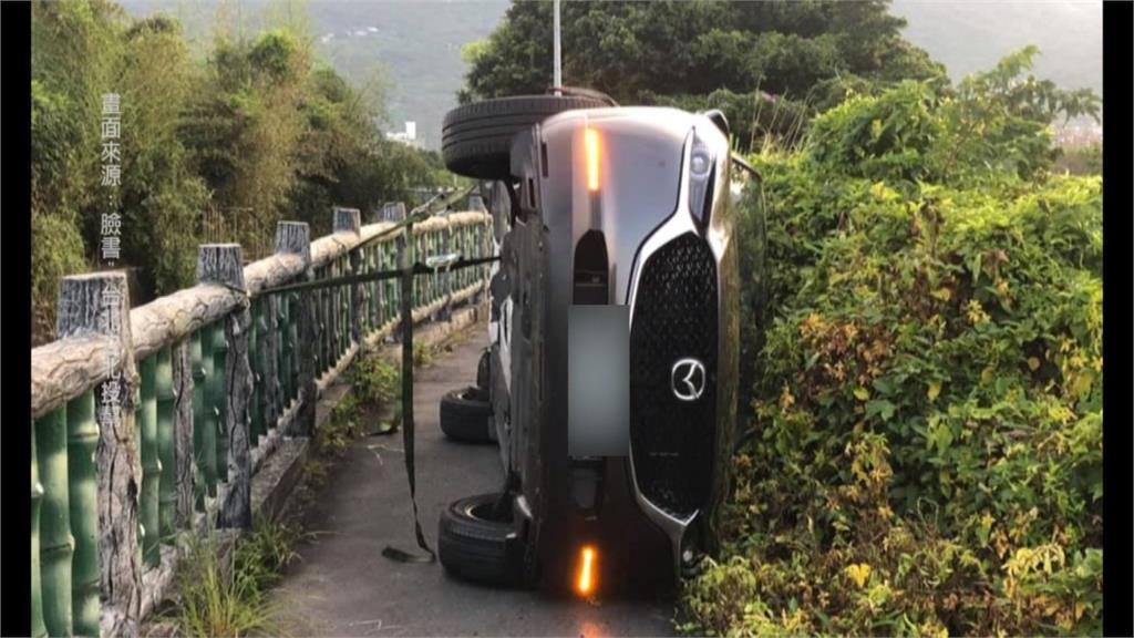 導航導進田間小路 休旅車「意外」側翻