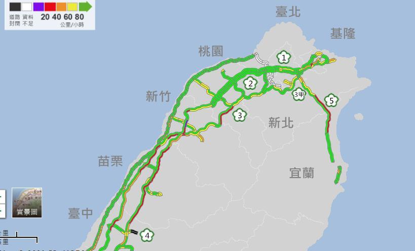 快新聞/北返車潮湧國道! 高公局估明壅塞路段 建議北向用路人上午出發
