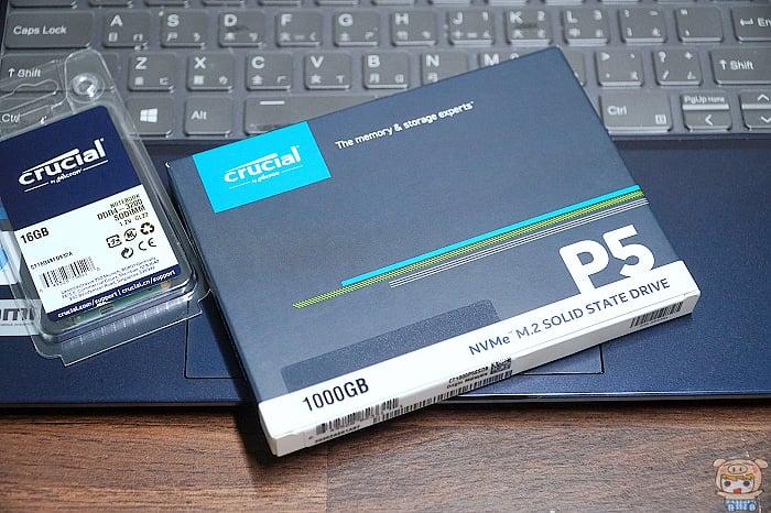 3C/極速傳輸 讓電腦效能再進化 美光 Crucial P5 1TB M.2 2280 PCIe SSD固態硬碟 開箱 評測