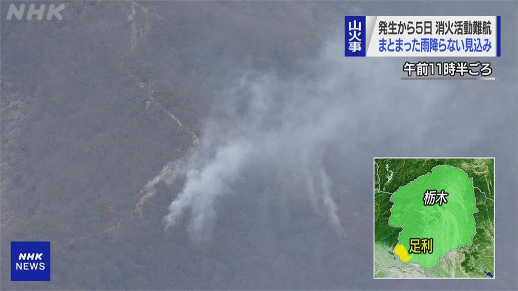 日本櫪木縣森林大火持續延燒 緊急疏散逾300戶