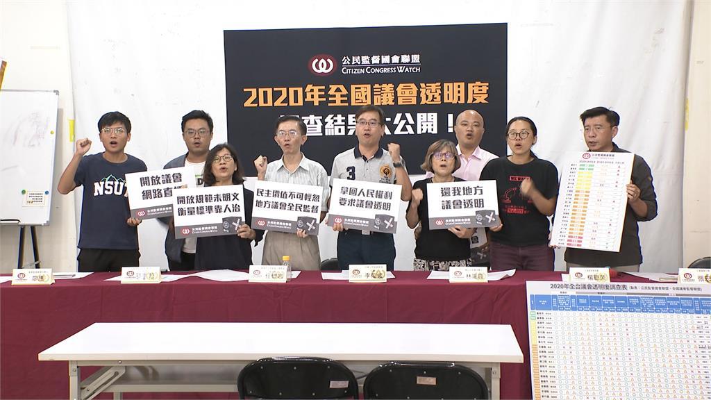 「2020全國各縣市議會透明度」 台南.台東表現佳!