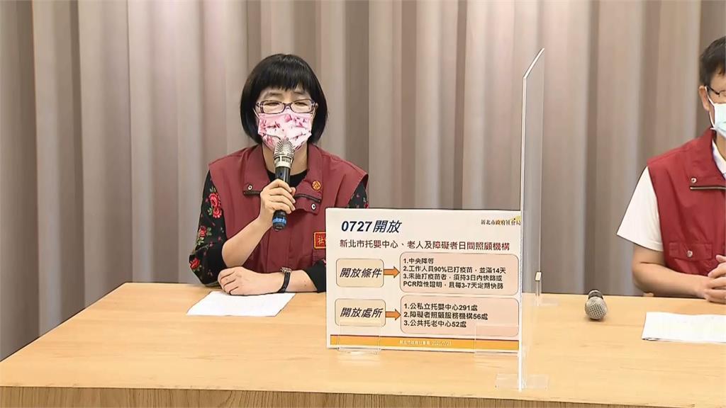 快新聞/新北公私托嬰、身障日照、托老中心 7/27起恢復收托