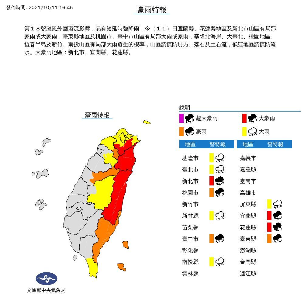 入夜「圓規」雨彈狂炸11縣市!氣象局曝開工日放「颱風假」機率