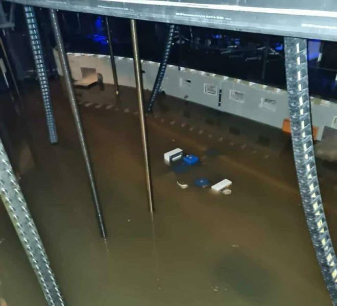 德國暴雨造成歌劇院淹水