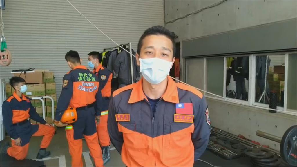 跨海集氣應援! 消防員玩創意幫台灣健兒加油