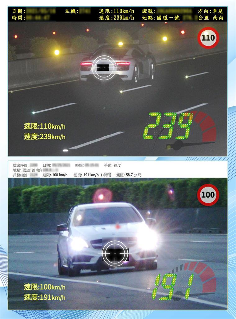 快新聞/三級警戒國道超速量爆增至7592件 警方揪出駕駛狂飆時速達302公里