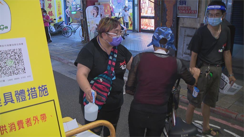 萬華廣州夜市微解封 內用未開放攤商不多