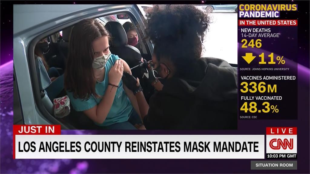 Delta恐致美第4波疫情 洛城再度強制戴口罩