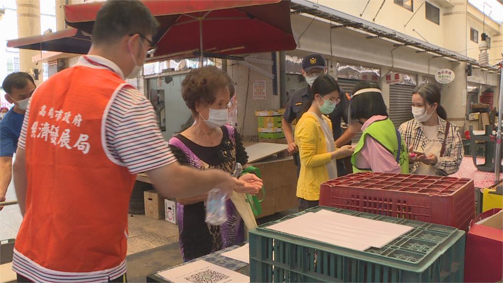 高雄市場買菜免分單雙號 攤商觀望暫緩內用