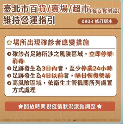 快新聞/北市放寬足跡封鎖限制 柯文哲:案例4天內到訪清消完可營業