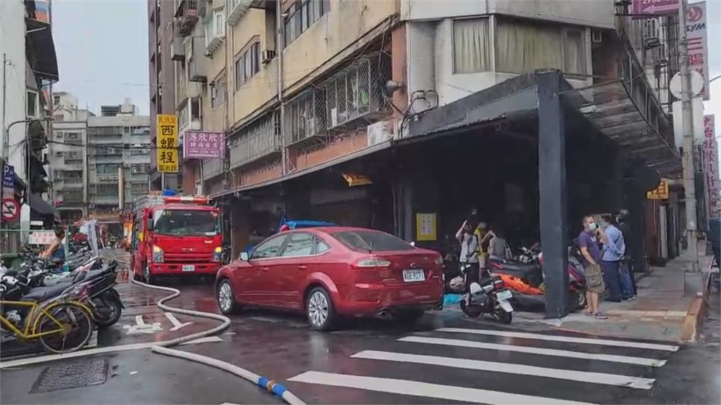 松山旅館火警民眾驚逃 1男無呼吸心跳急送醫