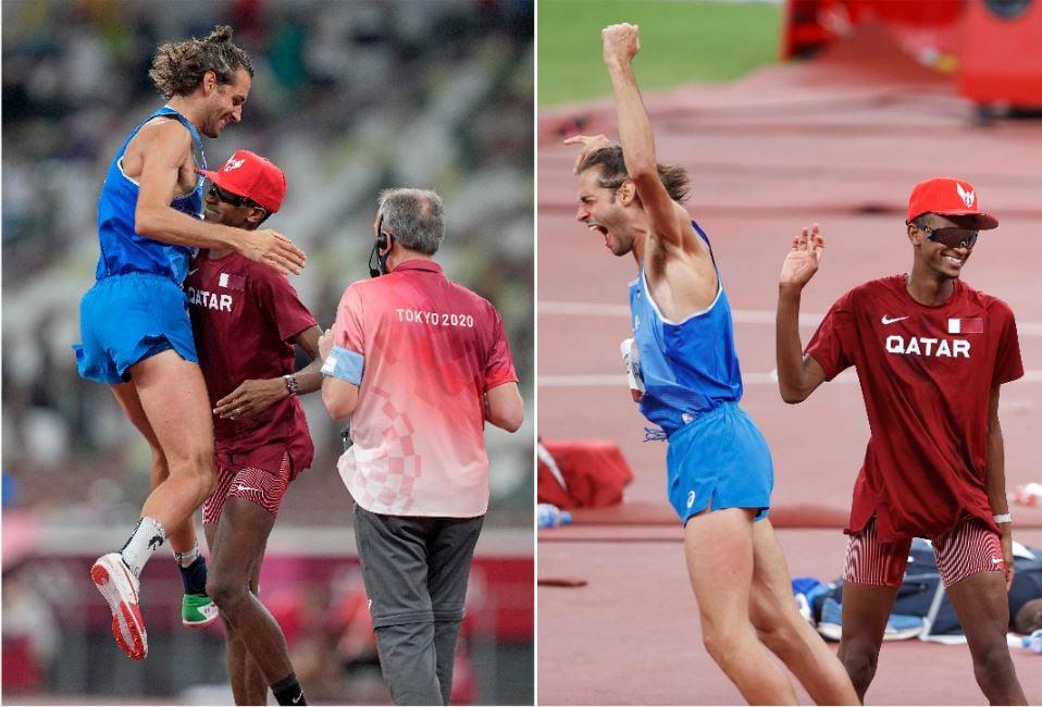 東奧/百年首例「可以有兩面金牌嗎?」卡達、義大利男子跳高創紀錄