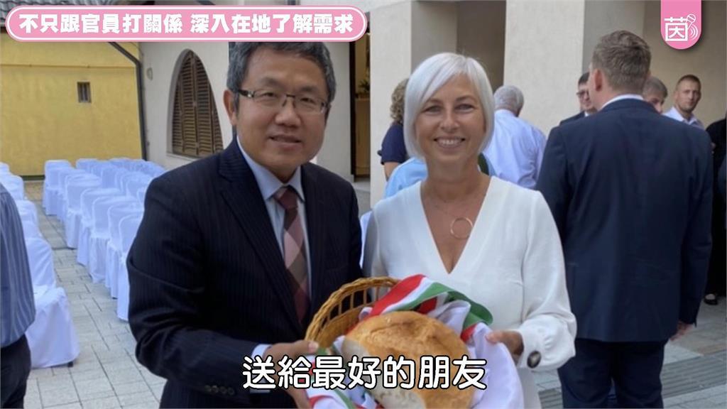 除了美食破冰!我駐匈牙利大使深入在地宣傳台灣 獲議員「真正友誼」回禮