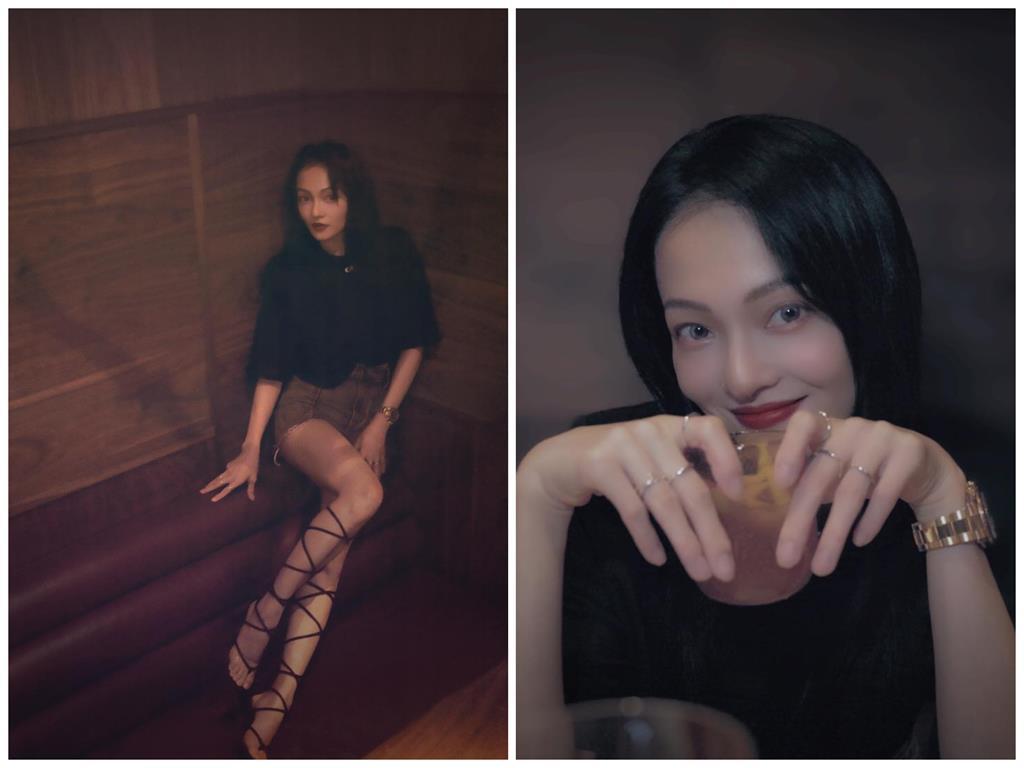 39歲張韶涵「綁粽鞋」狂纏美腿 朦朧誘惑粉著魔:蒙娜麗莎即視感!